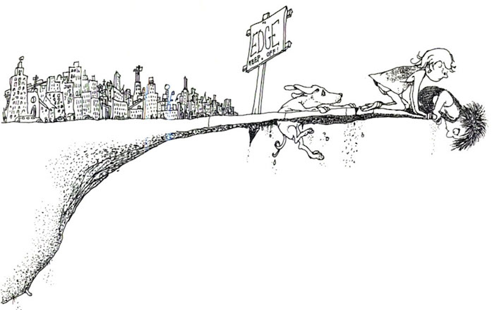 "Image from Shel Silverstein's ""Where the Sidewalk Ends"""