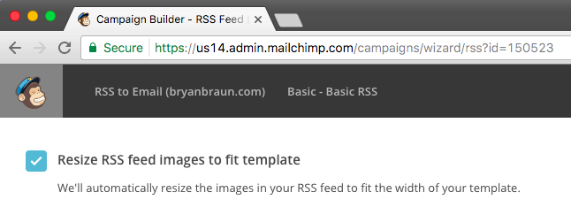 Resize RSS feed images to fit template