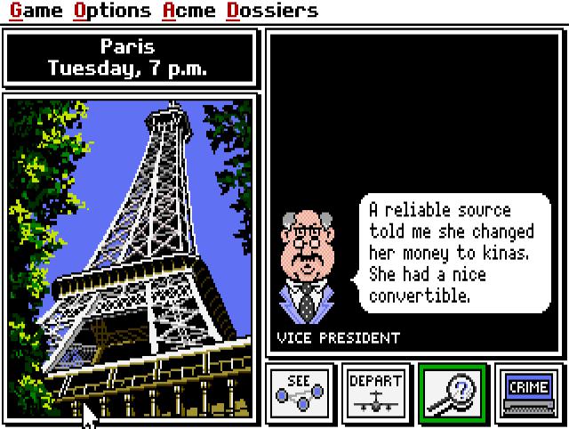 Screenshot from the game Carmen Sandiego.