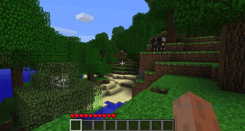 A screenshot of a scene in Minecraft.