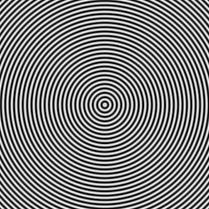 A compressed black and white ripple.